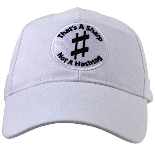 View larger image of That's A Sharp, Not A Hashtag Hat - White