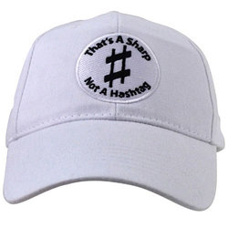 That's A Sharp, Not A Hashtag Hat - White