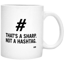 That's a Sharp Not a Hashtag Mug - White/Black