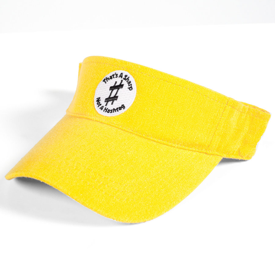 View larger image of That's A Sharp, Not A Hashtag Visor - Yellow
