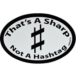 That's Not a Sharp Not a Hashtag Sticker