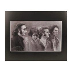 The Beatles Illustrated Music Poster