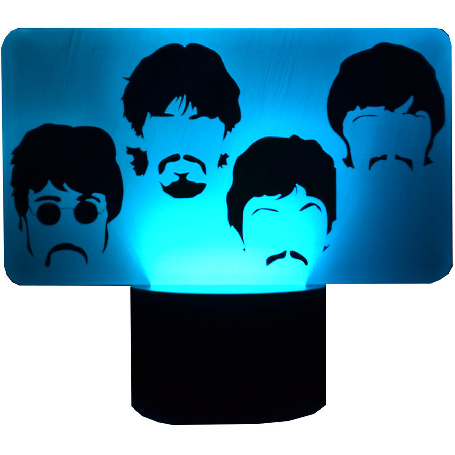 View larger image of The Beatles Side by Side Faces 3D LED Lamp