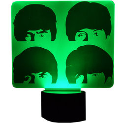 The Beatles Stacked Faces 3D LED Lamp