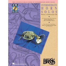 The Canadian Brass Book of Intermediate Horn Solos w/CD