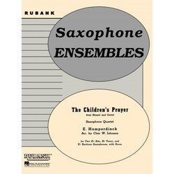 The Children's Prayer - Saxophone Quartet