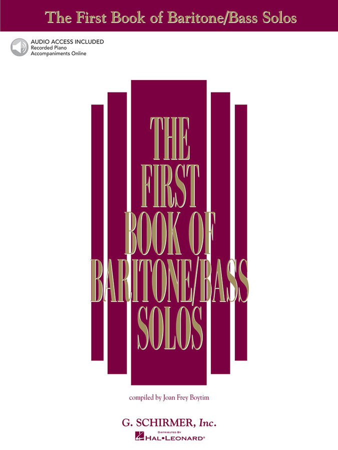 View larger image of The First Book of Baritone/Bass Solos w/Online Audio
