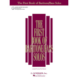 The First Book of Baritone/Bass Solos w/Online Audio