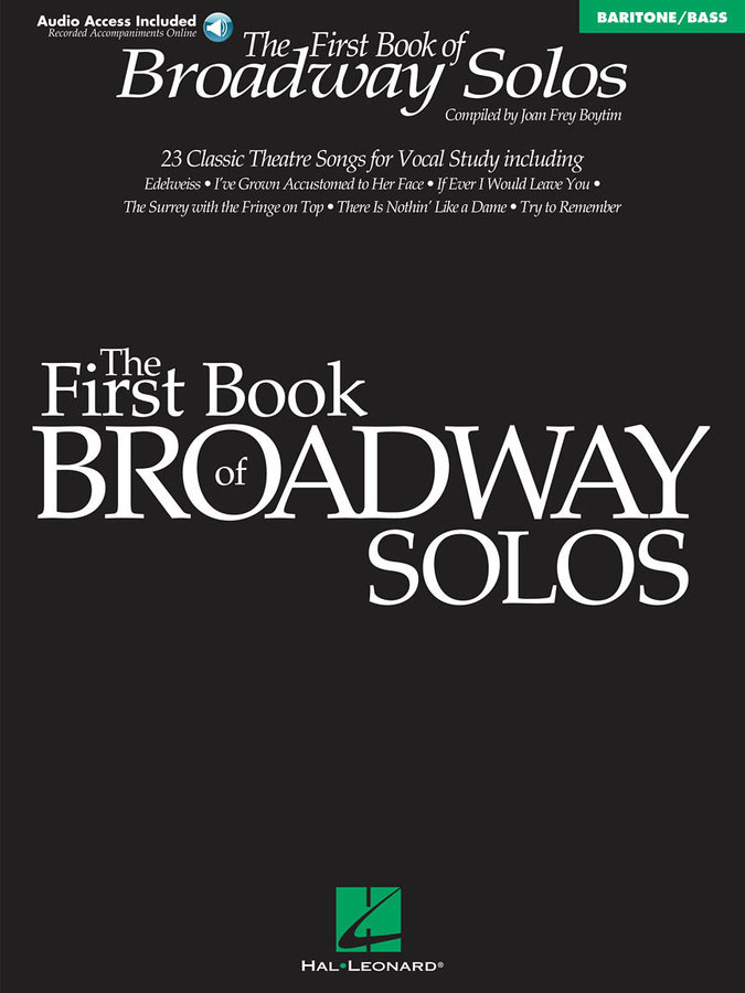 View larger image of The First Book of Broadway Solos - Baritone/Bass Edition w/Online Audio