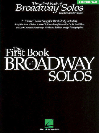 View larger image of The First Book of Broadway Solos - Baritone/Bass Edition