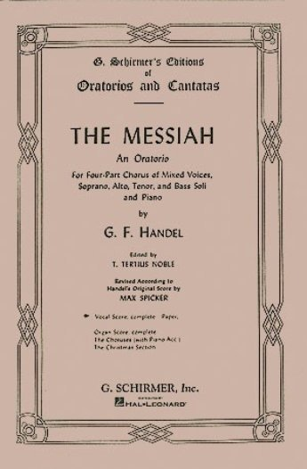 View larger image of The Messiah (Oratorio 1741) Complete Vocal Score SATB