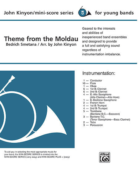 View larger image of The Moldau (Theme) - Score & Parts, Grade 1