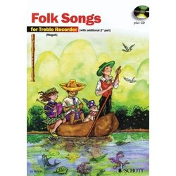 The Most Beautiful Folk Songs Book w/CD - Soprano Recorder