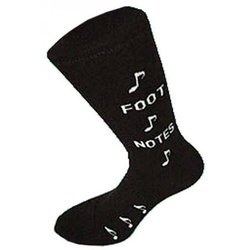 The Music Gifts Foot Notes Socks