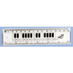 The Music Gifts Keyboard Ruler - 6, Clear