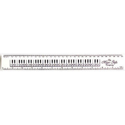 The Music Gifts Keyboard Ruler - White, 12