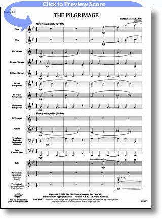 View larger image of The Pilgrimage - Score & Parts, Grade 1