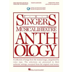 The Singer's Musical Theatre Anthology - Teen's Edition - Baritone/Bass (w/Online Audio)