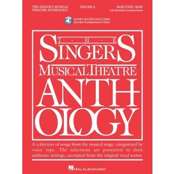The Singer's Musical Theatre Anthology Vol.4 - Baritone/Bass (w/Online Audio)