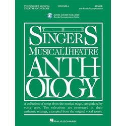 The Singer's Musical Theatre Anthology Vol.4 - Tenor w/Online Audio
