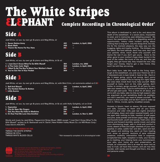 View larger image of The White Stripes - Elephant (2 LP)