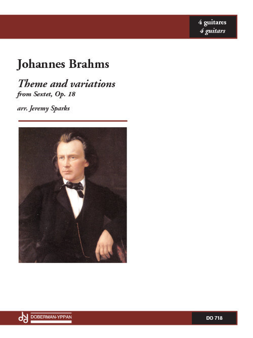 View larger image of Theme And Variations from Sonata, Op.18 (Brahms) - Guitar Quartet