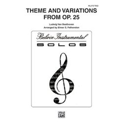 Theme and Variations, Opus 25 - Flute Trio