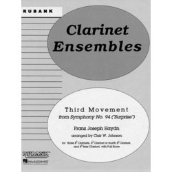 Third Movement (from Surprise Symphony) - Clarinet Ensemble