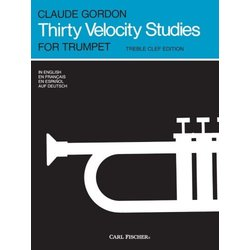 Thirty Velocity Studies (Gordon) - For Trumpet (Treble Clef Edition)