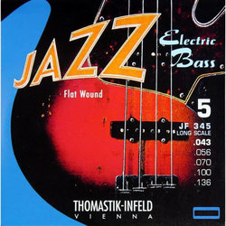 Thomastik-Infeld JF324 Flatwound Jazz Electric Bass Guitar Strings - Medium 43-106, Short Scale