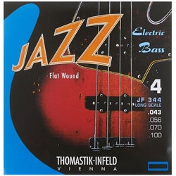 Thomastik-Infeld Flat Wound Jazz Electric Bass Guitar Strings - 43-100, Long