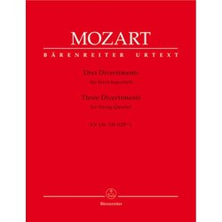 Three Divertimenti For String Quartet, (Mozart)