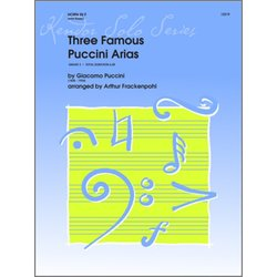 Three Famous Puccini Arias - (F Horn Solo)