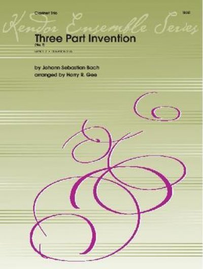 View larger image of Three Part Invention No.7 - (Clarinet Trio)