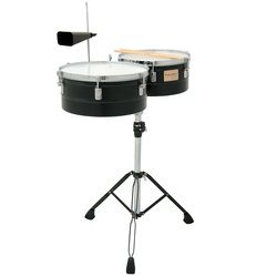 Tycoon Timbales - 13 / 14, Black