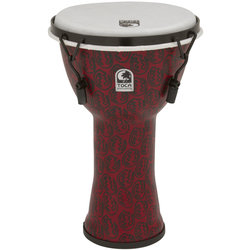 Toca Freestyle II Mechanically Tuned Djembe - Red Mask, 9