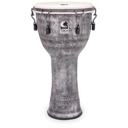 Toca Freestyle Mechanically Tuned Djembe - Antique Silver, 12