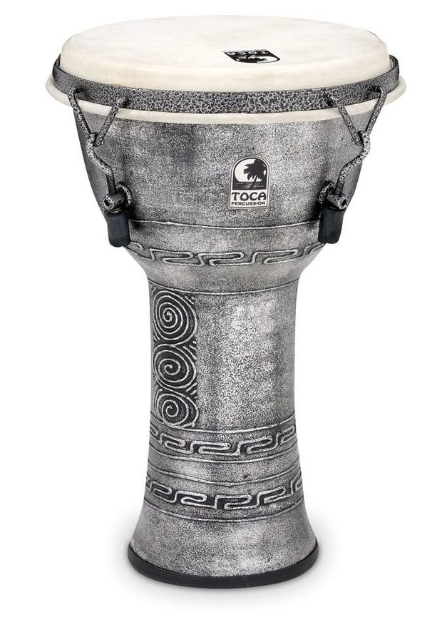 View larger image of Toca Freestyle Mechanically Tuned Djembe - Antique Silver, 9