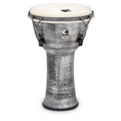 Toca Freestyle Mechanically Tuned Djembe - Antique Silver, 9
