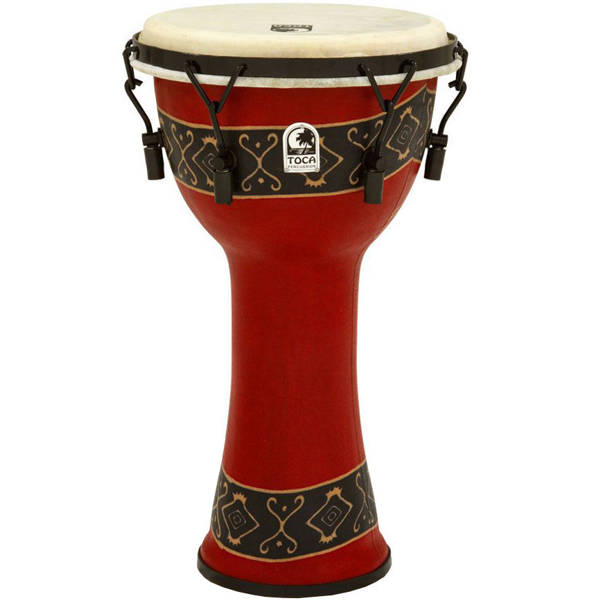 View larger image of Toca Freestyle Mechanically Tuned Djembe - Bali Red, 10