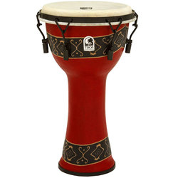 Toca Freestyle Mechanically Tuned Djembe - Bali Red, 10
