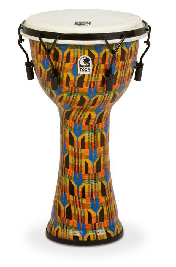 View larger image of Toca Freestyle Mechanically Tuned Djembe - Kente Cloth, 10