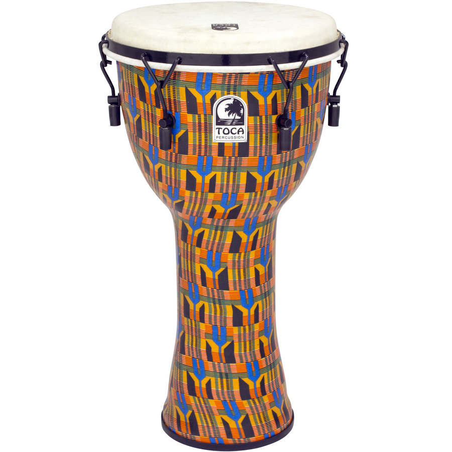 View larger image of Toca Freestyle Mechanically Tuned Djembe - Kente Cloth, 12
