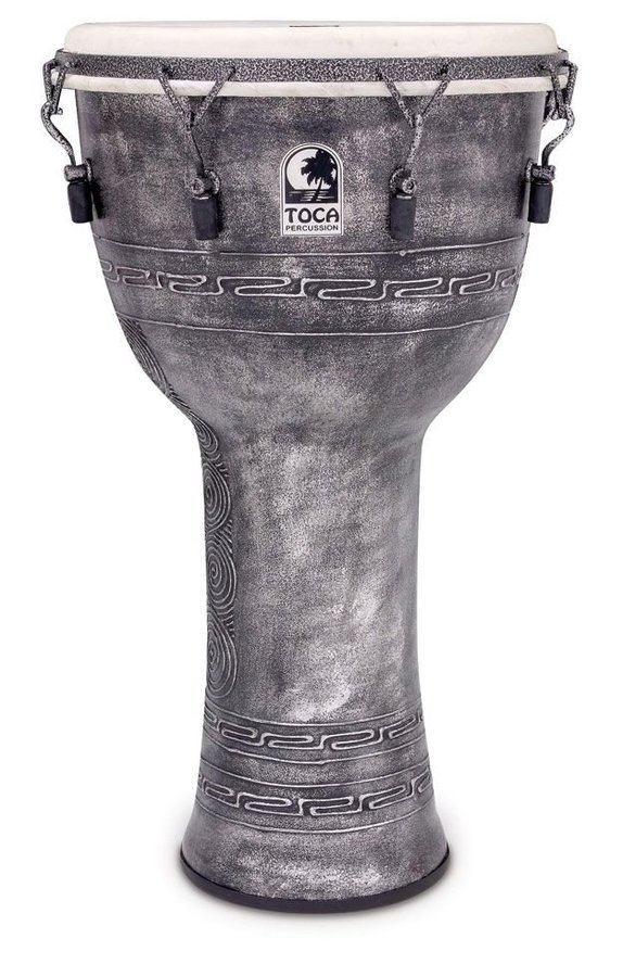 View larger image of Toca Freestyle Mechanically Tuned Djembe with Bag - Antique Silver, 14