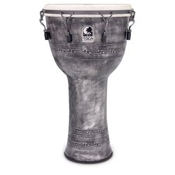 Toca Freestyle Mechanically Tuned Djembe with Bag - Antique Silver, 14