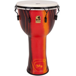 Toca Freestyle Mechanically Tuned Djembe with Bag - Bali Red, 14