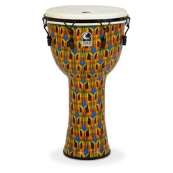 Toca Freestyle Mechanically Tuned Djembe with Bag - Kente Cloth, 14