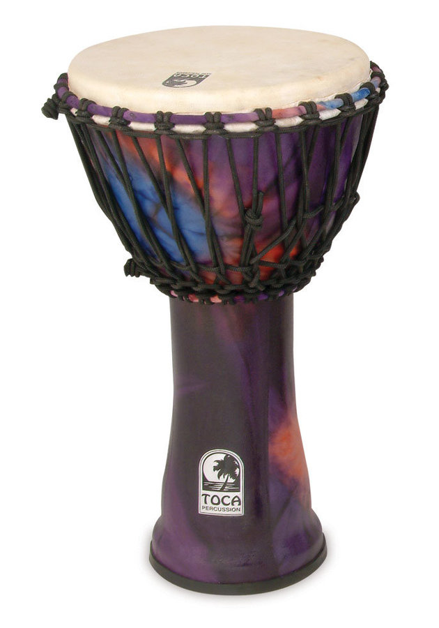 View larger image of Toca Freestyle Rope Tuned Djembe - Woodstock Purple, 10