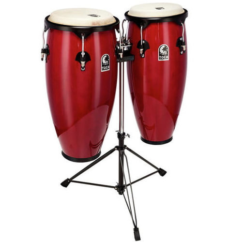 View larger image of Toca Player's Series Conga Set - 10 & 11, with Stand, Red