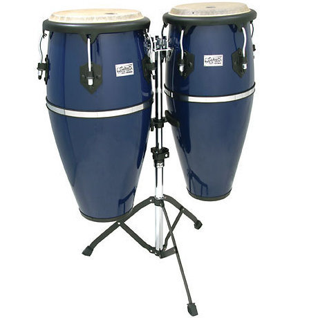 View larger image of Toca Player's Series Conga Set - 10 & 11, with Stand, Vista Blue